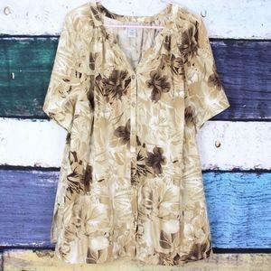 Maggie Barnes Floral Button Down Shirt